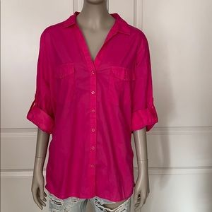 Company Ellen Tracy 100% Cotton Shirt w/Rib Sides